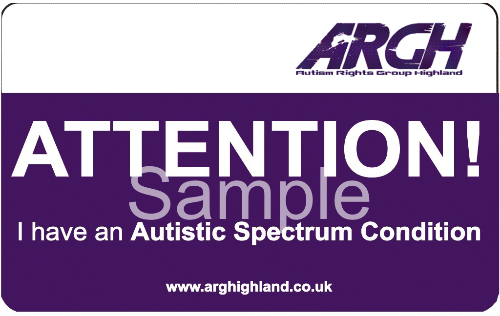 ARGH Autistic spectrum condition front